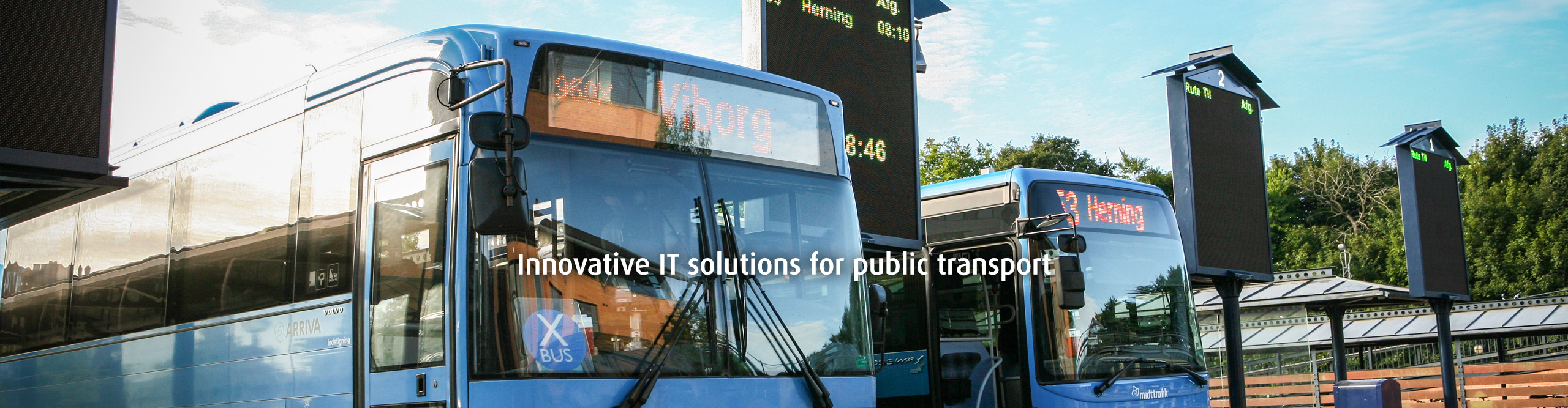 Innovative IT solutions for public transport